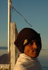 Un homme, Sri Pada, Sri Lanka
